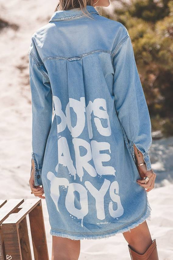 BOY'S DENIM SHIRT IS RIDED-EFFECT TOYS BLUE | SHEILA SS20