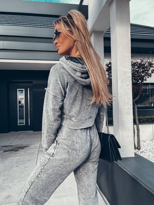 SWEATSHIRT GRAY WITH FELT EFFECT | SHEILA SS21