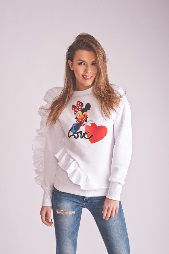 WHITE LOVE SWEATER